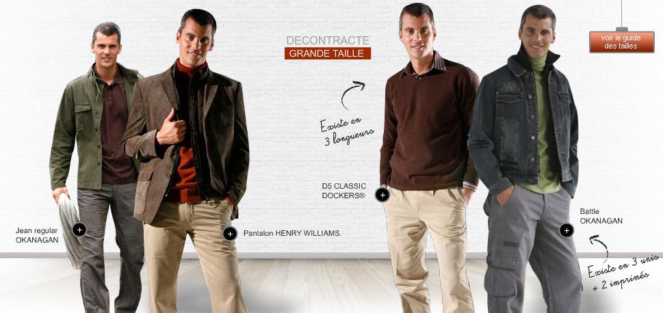 Rayon grande taille pour hommes chez les 3 suisses notre s lection - Grande taille 3 suisses ...