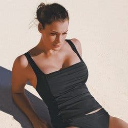 maillot bain tankini decathlon. Black Bedroom Furniture Sets. Home Design Ideas