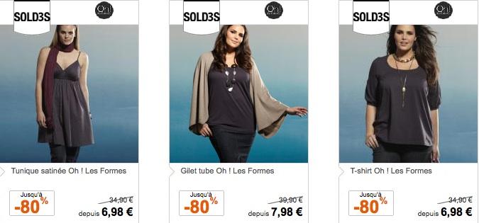 3 suisses soldes 80 pour la deuxi me d marque sur - Grande taille 3 suisses ...
