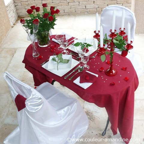 Deco table valentin for Deco table st valentin