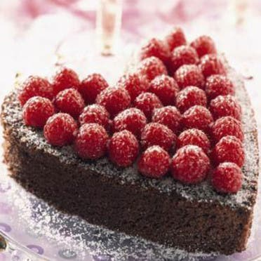 gâteau au chocolat spécial saint valentin diner entre amoureux
