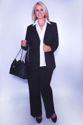 tendance tailoring sp cial pantalon grande taille femme pour le bureau. Black Bedroom Furniture Sets. Home Design Ideas