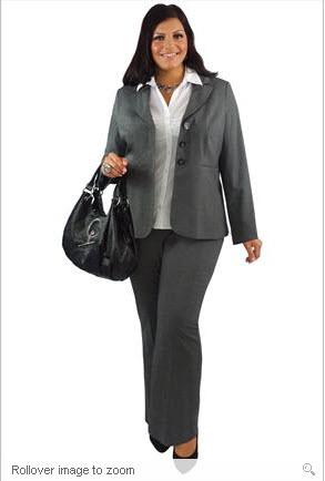 Tendance tailoring sp cial pantalon grande taille femme - Look bureau femme ...