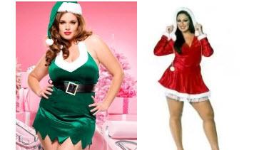 Costume Mère Noël grande taille sexy  pour un Noël dont il se rappellera !