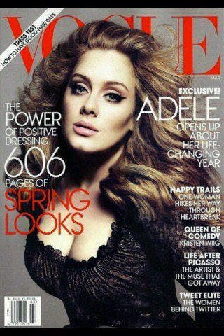 adele ic ne de mode robe giorgio armani aux grammy awards et couverture du vogue us. Black Bedroom Furniture Sets. Home Design Ideas