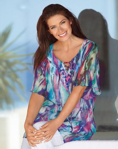 colore et lgrement transparente cette tunique vous donne une allure de naade quand vous allez sur la plage cest un fin tissu qui vous enveloppe des - Tunique Colore Femme