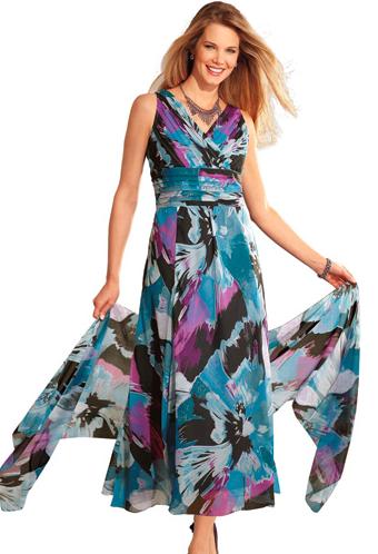Bleu bonheur robe soiree