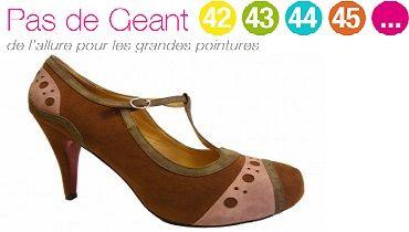 Pas de Géant propose aux femmes un large choix chaussures grandes ... 9badcea4c1a6