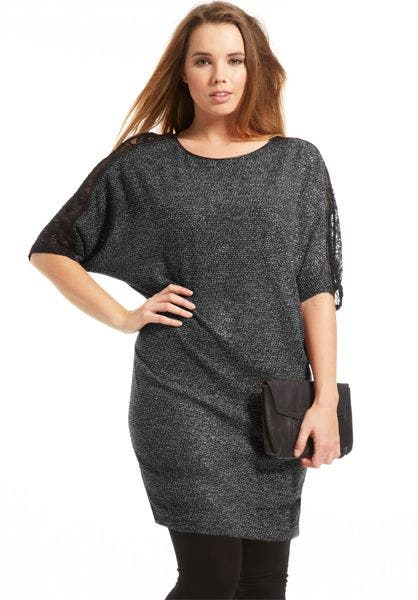 4558f86146d Robe-grande-taille-Donna-gris