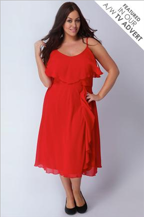 Robe de soiree rouge femme ronde