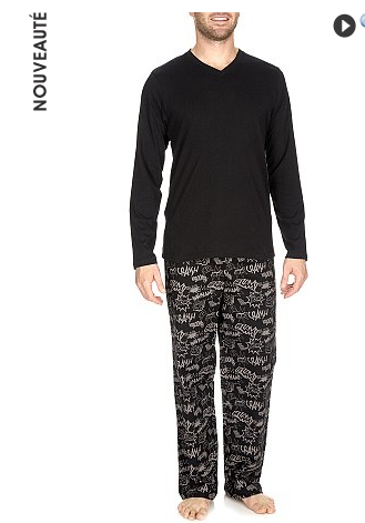 offrez un pyjama homme grande taille amusant pour no l. Black Bedroom Furniture Sets. Home Design Ideas