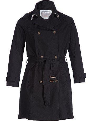 599dfad00d66 stunning trench grande taille noir en coton with brassiere en laine kiabi