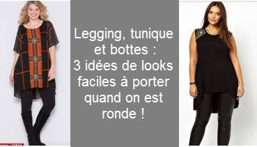 legging grande taille tunique et bottes une tenue fashion. Black Bedroom Furniture Sets. Home Design Ideas