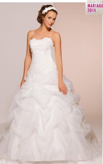 Trouvez votre robe de mari e grande taille sur tati mariage for Robe taille plus pour un mariage