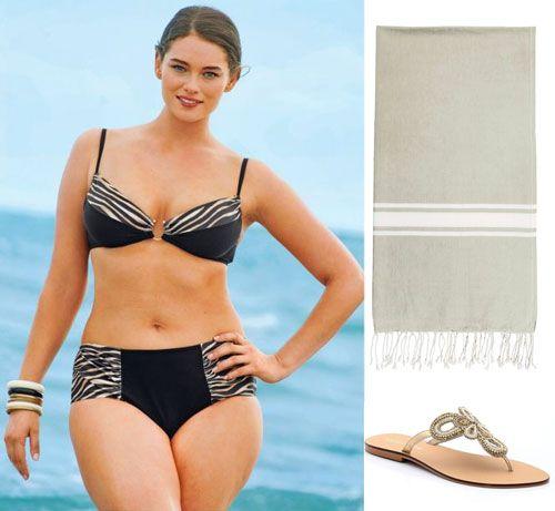 un look de plage grande taille sexy et color pour cet t. Black Bedroom Furniture Sets. Home Design Ideas
