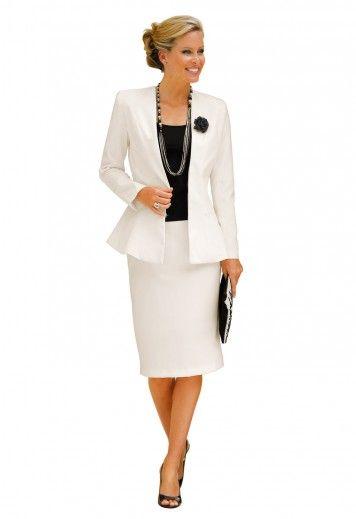 Veste tailleur femme grande taille blanche
