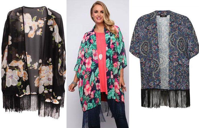 Veste kimono femme grande taille