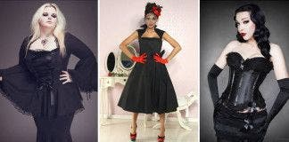 Robe gothique rouge grande taille