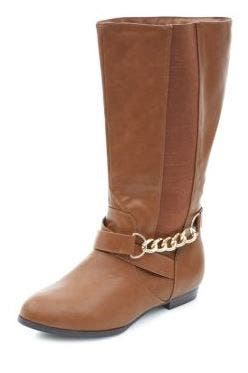 Bottes mollets larges new look