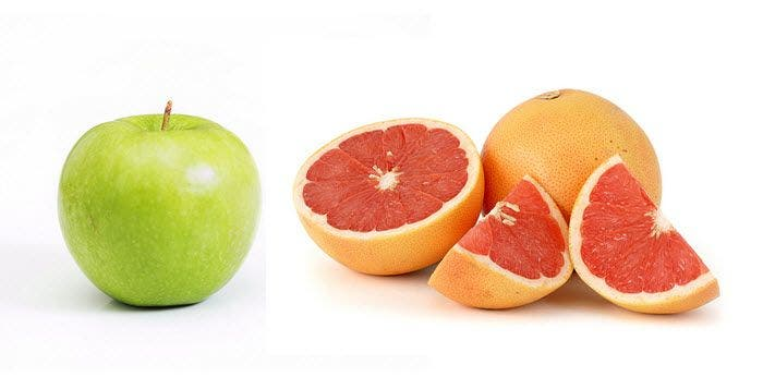 Maigrir grâce aux pommes et aux pamplemousses : intox