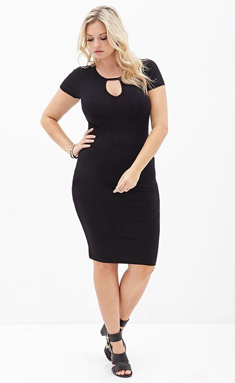 robe grande taille noire sexy