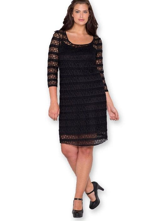 craquez pour une robe de f te grande taille chic et sobre. Black Bedroom Furniture Sets. Home Design Ideas