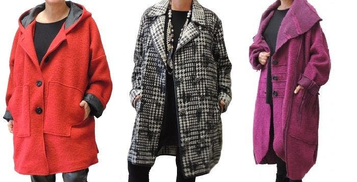 Achat manteau femme grande taille