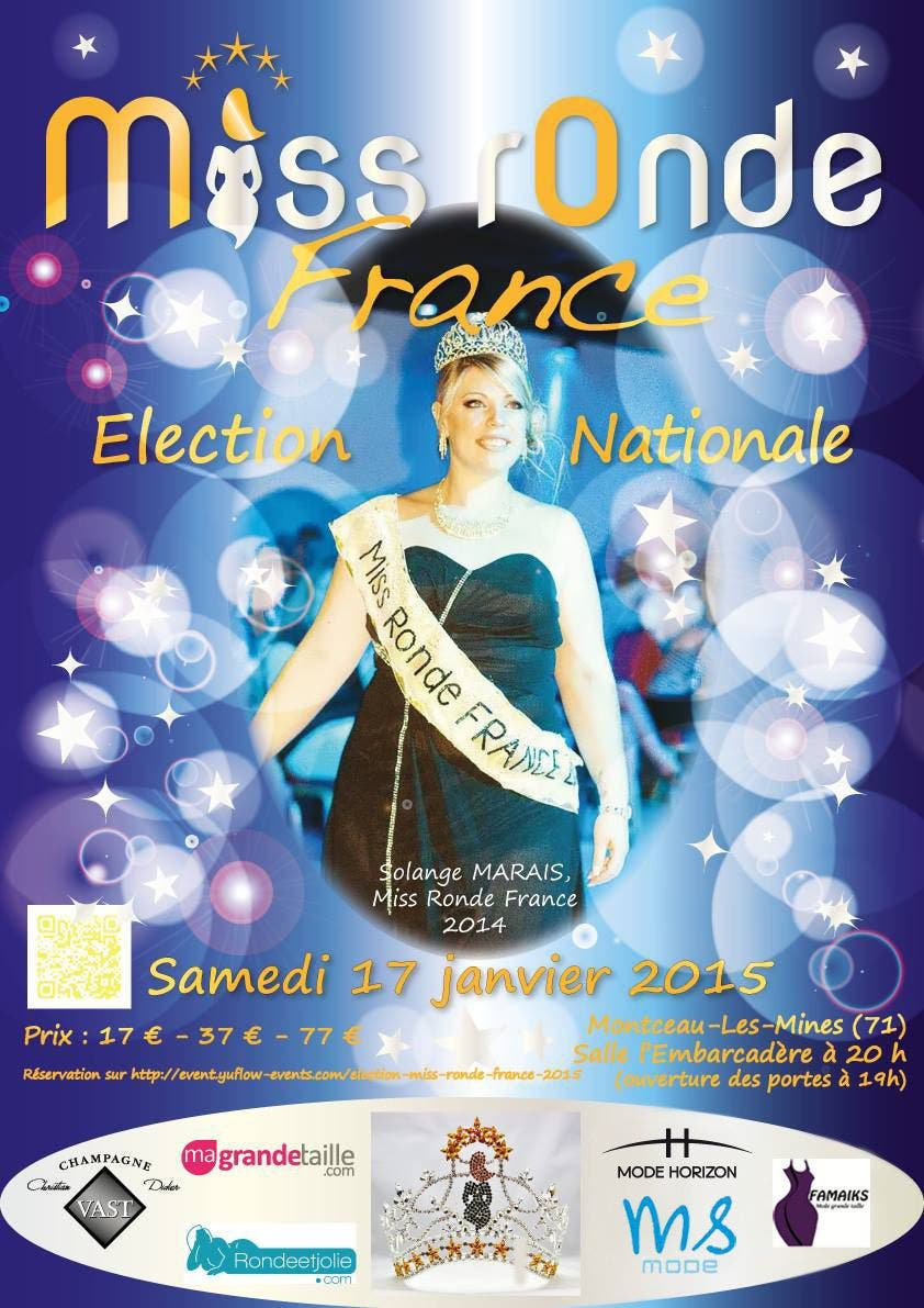 Affiche miss ronde france 2015