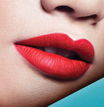 tendance maquillage lèvres rouges