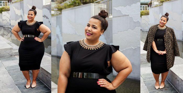 quand une simple robe noire grande taille devient ultra chic et tendance. Black Bedroom Furniture Sets. Home Design Ideas