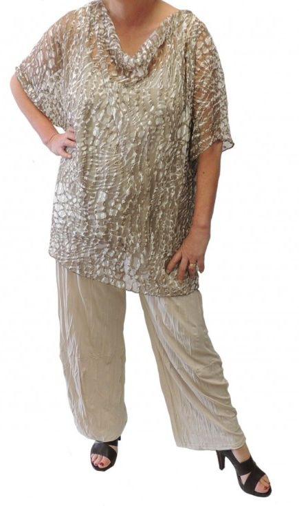 ensemble tunique pantalon habillé grande taille