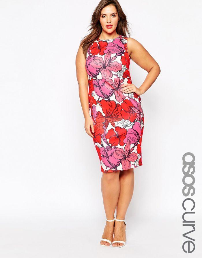 une robe grande taille imprimé fleuri