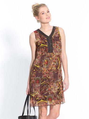 robe imprimée droite balsamik