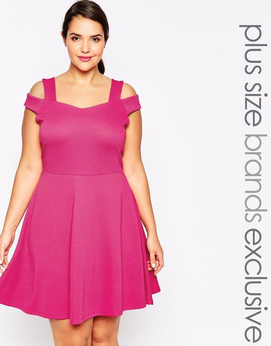 une robe patineuse grande taille