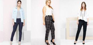 trois pantalons grande taille en soldes été 2015
