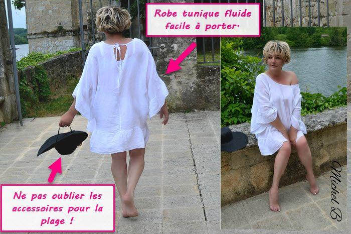 Robe tunique grande taille pour une journ e la plage - Tenue plage femme ...