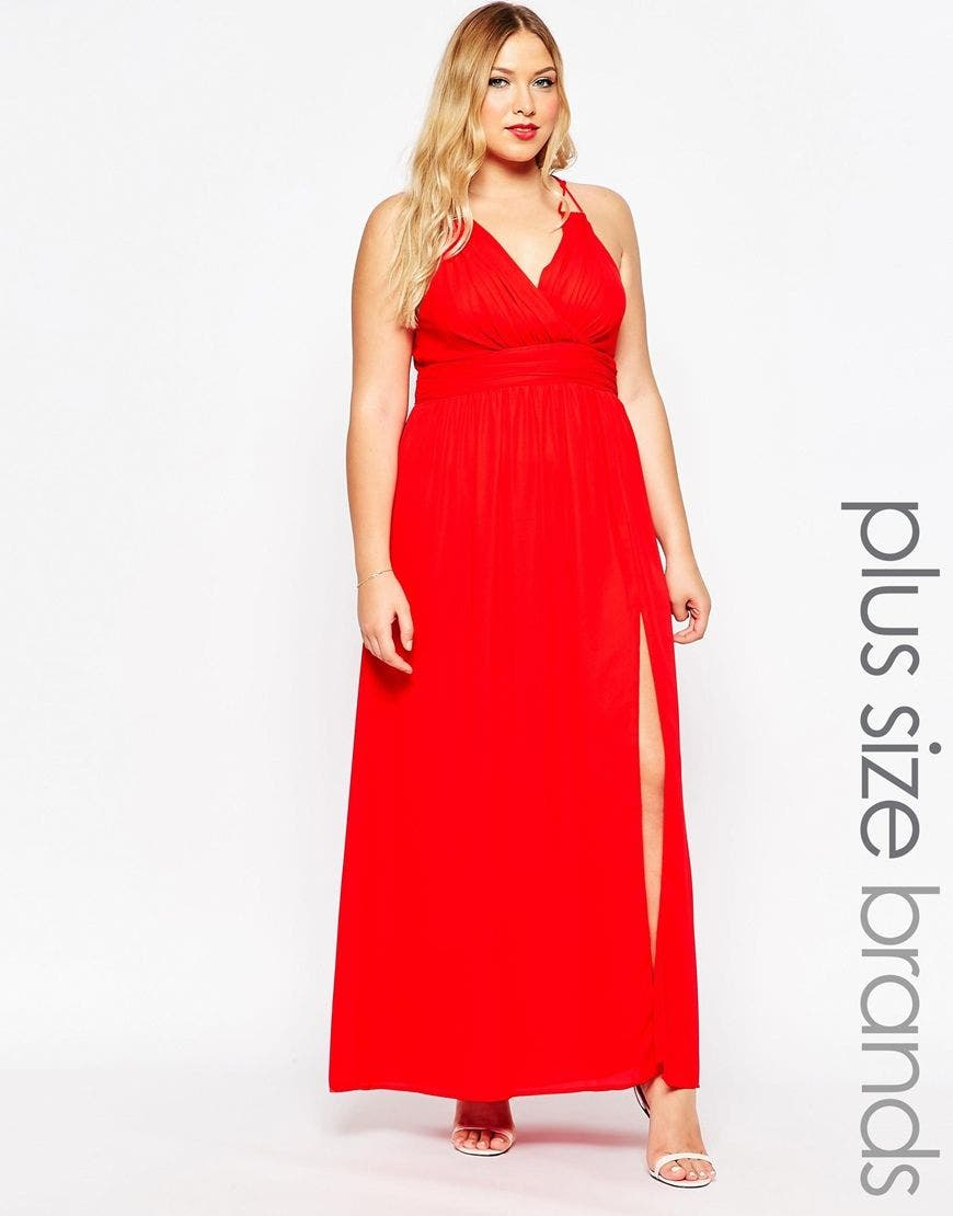 Robes longues grande taille   Asos Curve sort le grand jeu 6a767992bf1a