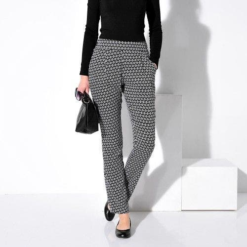 b78d50db9835 pantalon imprime noir blanc graphique blancheporte