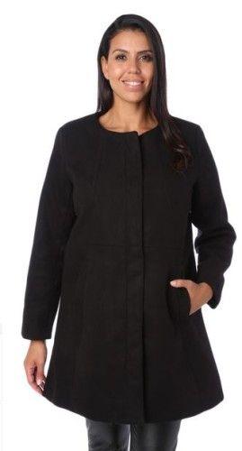 Manteau femme capuche fourrure noire