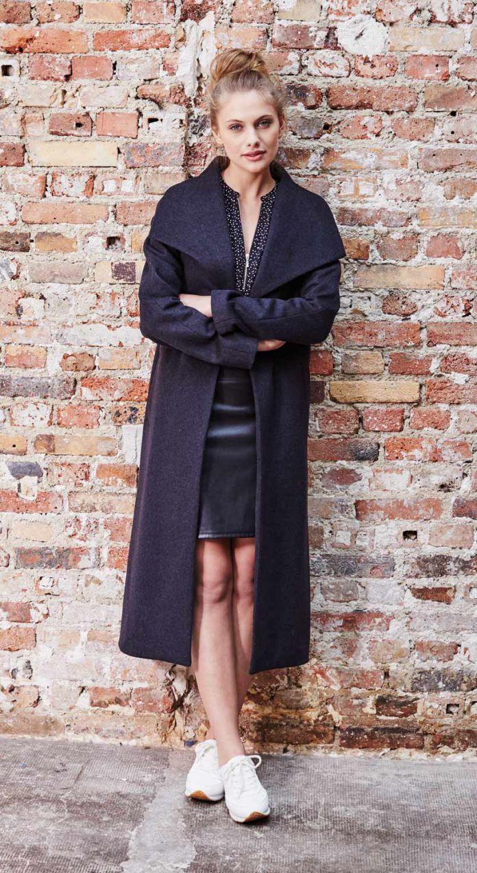 manteau grande taille le long a la cote. Black Bedroom Furniture Sets. Home Design Ideas