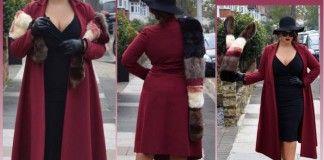 un manteau grande taille longueur XXL
