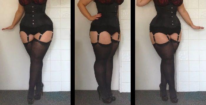 Collants Grande Taille Trouver Des Bas Grande Taille - Femme en porte jarretelle