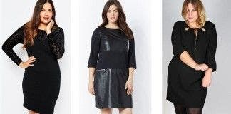 Robe noire grande taille pas cher
