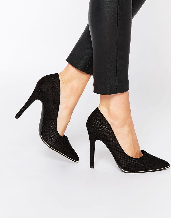 escarpin pied large