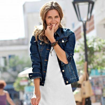 Veste en jean femme blancheporte