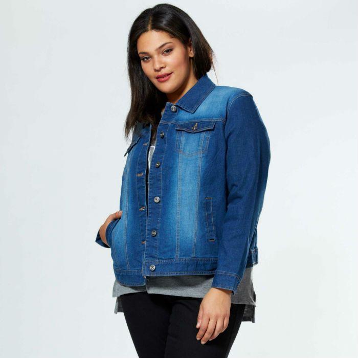 Vestes en jean grande taille femme   must have 2016 856f80fc20ca