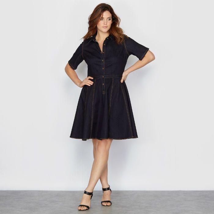 robe en jean grande taille le it look 2016. Black Bedroom Furniture Sets. Home Design Ideas