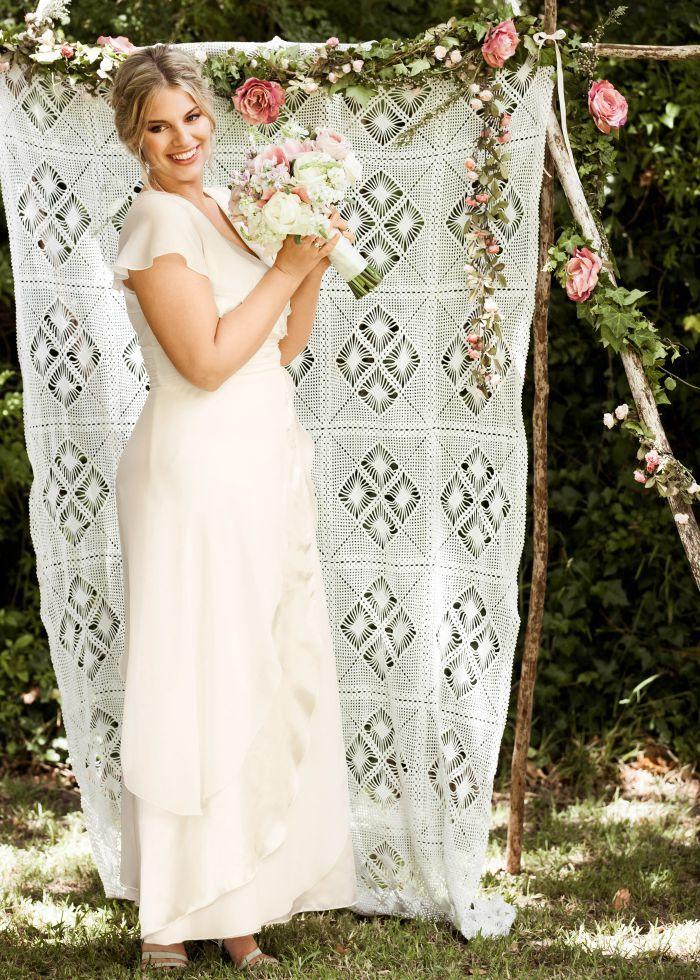 ... robe de mariée grande taille de grossesse ! Pas courant, et pourtant