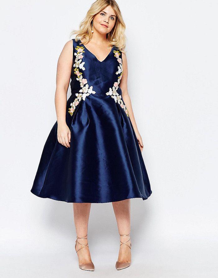 Robe de soir e chi chi london grande taille top 10 for Taille plus mariage dresse