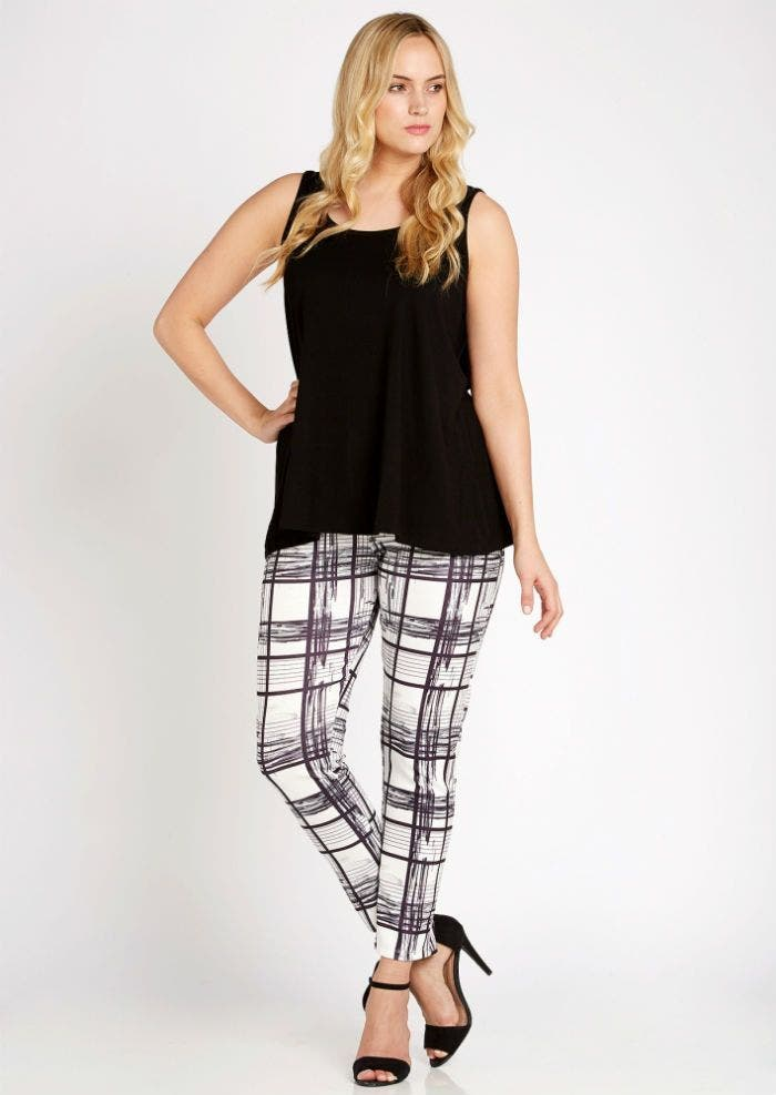 pantalon rayes blanc noir pink clove